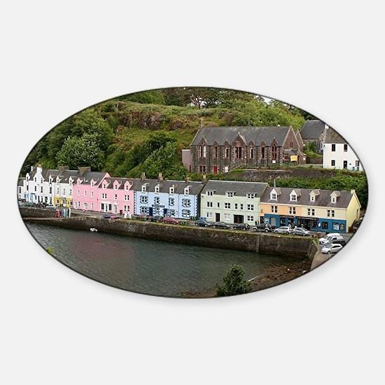 Portree, Isle of Skye, Scotland Sticker (Oval)