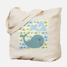 Cute Whale With Pattern Tote Bag