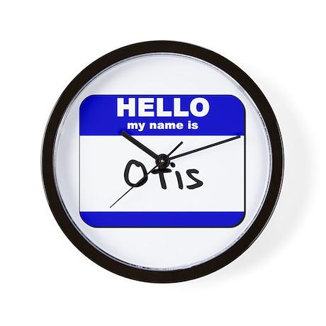 hello my name is otis Wall Clock