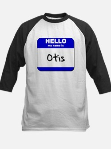 hello my name is otis Kids Baseball Jersey