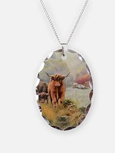 Highlands Necklace Oval Charm