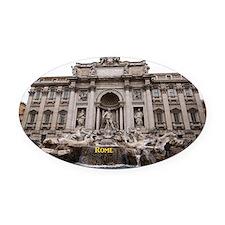 Rome_18.8x12.6_TreviFountain Oval Car Magnet