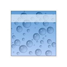 "Water Drops Pattern Square Sticker 3"" x 3"""