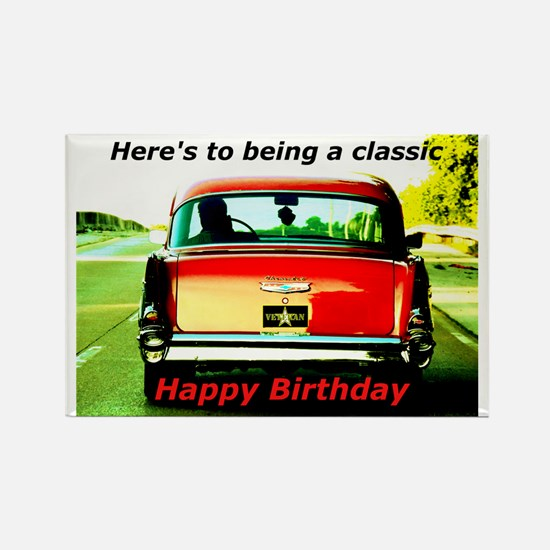 Being Classic Birthday Card Rectangle Magnet