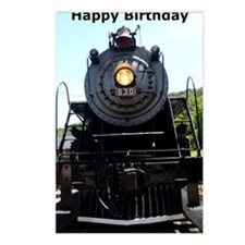 Train Engine Happy Birthd Postcards (Package of 8)