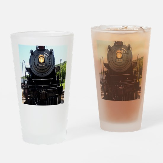 Train Engine Happy Birthday Drinking Glass