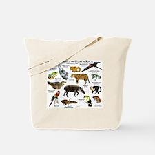 Costa Rica Animals Tote Bag