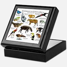 Costa Rica Animals Keepsake Box