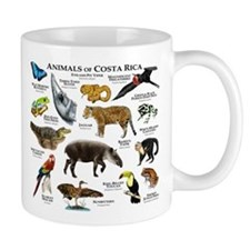 Costa Rica Animals Small Mug