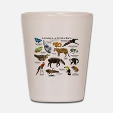 Costa Rica Animals Shot Glass