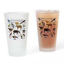 Costa Rica Animals Drinking Glass