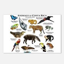 Costa Rica Animals Postcards (Package of 8)