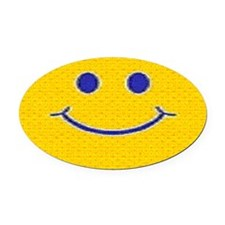 Happy Tag Oval Car Magnet