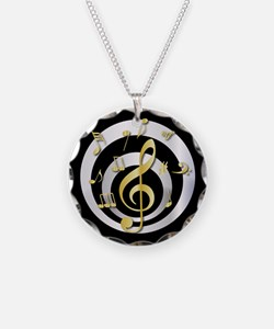 Stylish Gold and silver musical Clef Necklace