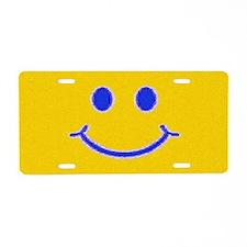 Happy File Aluminum License Plate