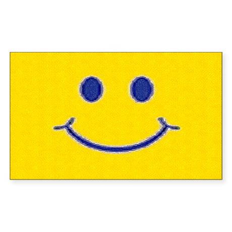Happy Smile Sticker (Rectangle)