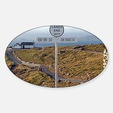 Lands End, Cornwall, England, UK 2 Sticker (Oval)