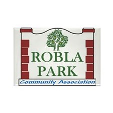 Robla Park Pocket Image Rectangle Magnet