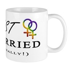 Just Married (Finally) - Lesbian Pride  Mug