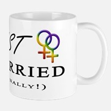 Just Married (Finally) - Lesbian Pride  Mug