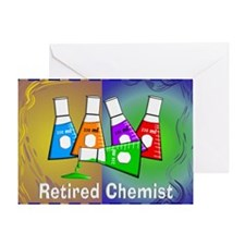 Retired chemist blanket 7 Greeting Card
