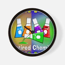 Retired chemist blanket 7 Wall Clock