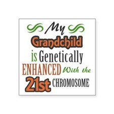 "My Grandchild is Geneticall Square Sticker 3"" x 3"""