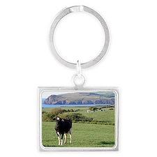 Pembrokeshire cows, Wales, Unit Landscape Keychain