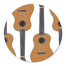 ukulele uke Round Car Magnet