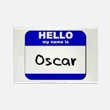 hello my name is oscar Rectangle Magnet