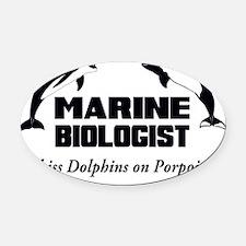 Marine Biologist Oval Car Magnet