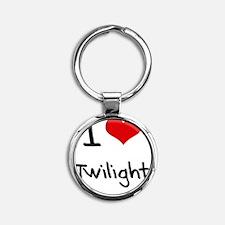 I love Twilight Round Keychain