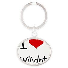 I love Twilight Oval Keychain