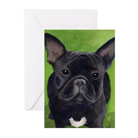French Bully Greeting Cards (Pk of 10)