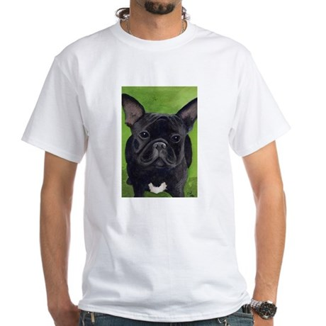 French Bully White T-Shirt