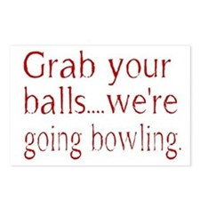 Grab you balls Postcards (Package of 8)