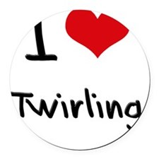 I love Twirling Round Car Magnet