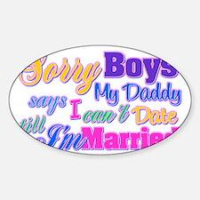 sorryboys Sticker (Oval)