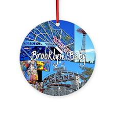 bklyn baby 1 Round Ornament