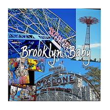 bklyn baby 1 Tile Coaster