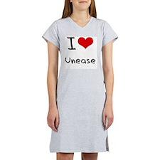 I love Unease Women's Nightshirt