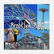 Coney Island Bklyn Baby Tile Coaster