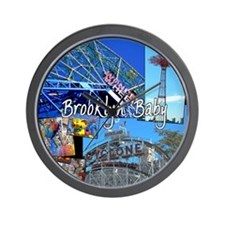 Coney Island Bklyn Baby Wall Clock
