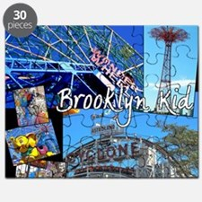 coney island brooklyn kid dark background Puzzle