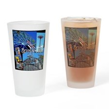 coney island brooklyn kid dark back Drinking Glass