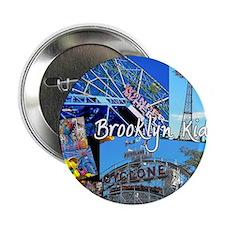 """coney island brooklyn kid dark backgr 2.25"""" Button"""