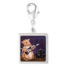 Rocker Woodhill Whiskers Silver Square Charm