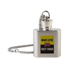 Make Lefse... Not War Flask Necklace