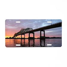 Clinton Bridge Aluminum License Plate