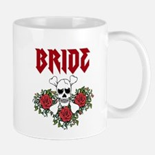 Bride Skull roses Mugs